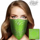 Bandana fazzoletto da collo Paisley verde