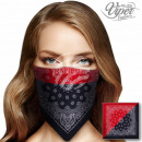Bandana scarf Paisley black, red