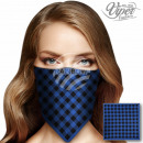 Bandana neckerchief checked blue