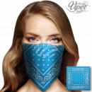 Bandana Kopftuch Halstuch Paisley Design Blautöne