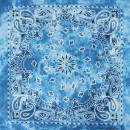 Bandana Kopftuch Halstuch hellblau Paisley Blüten