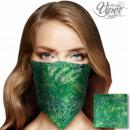 Bandana Kopftuch Halstuch grün Paisley Blüten