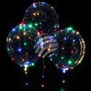 Großhandel Lichterketten: Transparenter  Ballon mit LED Lichterkette bunt