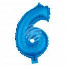Foil balloon helium balloon blue number 6