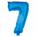 Foil balloon helium balloon blue number 7