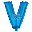 Foil balloon helium balloon blue letter V