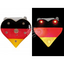Blinki Blinker Herz schwarz rot gelb