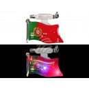 Blinki Blinker Flagge Portugal grün rot