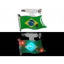 Blinki Blinker Flagge Brasilien grün gelb blau
