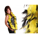 Feather boa stole scarves yellow / black