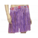 Hawaiian grass skirts - short - color purple