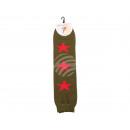 Scaldagambe Donna stelle rosso verde verde oliva e