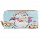 Purse wallet light blue unicorn