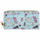 Purse wallet light blue multicolor unicorn