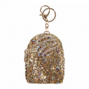 wholesale Pendant: Mini backpack pendant gold sequin design