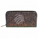 Wallet purse purple gold glitter design