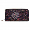 Wallet purse purple glitter design