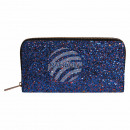 wholesale Wallets: Wallet purse blue red glitter design