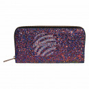 Wallet purse red blue glitter design
