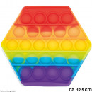 Bubble Toy Pop them, it´s fun Rainbow Hexagon
