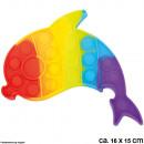 Bubble Toy Pop them, it´s fun Rainbow Delphin