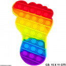 Bubble Toy Rainbow foot approx. 15 cm x 11 cm