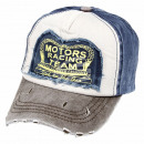 Vintage Retro Distressed Trucker Cap grau blau