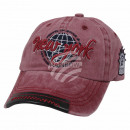 Vintage Retro Distressed Trucker Cap Red New York