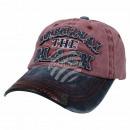 Vintage Retro Distressed Trucker Cap rot schwarz