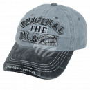 Vintage Retro Distressed Trucker Cap Gray