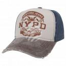 Vintage Retro Distressed Trucker Cap grau weiss