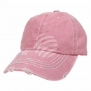 Vintage Retro Distressed Trucker Cap Pink Plain