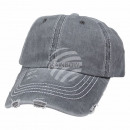 Vintage Retro Distressed Trucker Cap Gray Solid