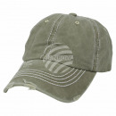 Vintage Retro Distressed Trucker Cap Olive Green S
