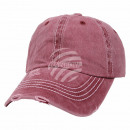 Vintage Retro Distressed Trucker Cap Red Solid Col