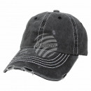 Vintage Retro Distressed Trucker Cap Black Uni