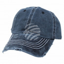 Vintage Retro Distressed Trucker Cap Blue Solid Co