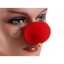 Schaumstoff Clownnase Clown Nase Rot