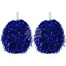 Cheerleader Pom Pom Party Pompoms blau