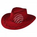 Cowboy zigzag pattern red
