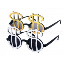 Fun Party Glasses form: Dollar sign black / we