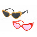 Fun Party Glasses Shape: heart gold or pink