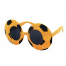 Fun Party Glasses Shape: Football black / yellow