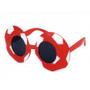 Fun Party Glasses shape: football red / white