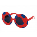 Fun Party Glasses Shape: Football Red / Blue