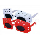 Fun Party Glasses Shape: Dice white