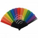 Fan folding fan Wind fan rainbow rainbow