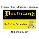 Flagge 150x90 cm Dortmund die Nummer 1 im Pott