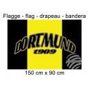 Flag 150x90 cm Dortmund 1909 three stripes