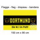 Flagge 150x90 cm Dortmund die Nr. 1 Mitte schwarz